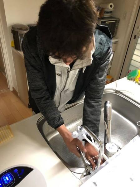 和泉市H様 浄水器取付工事