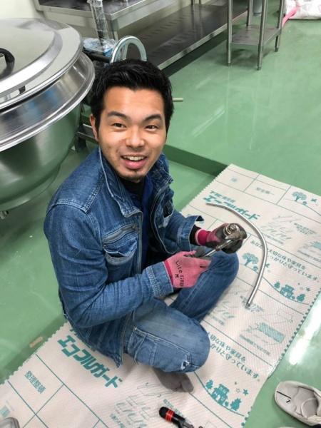 岸和田市K工場 厨房器具接続工事