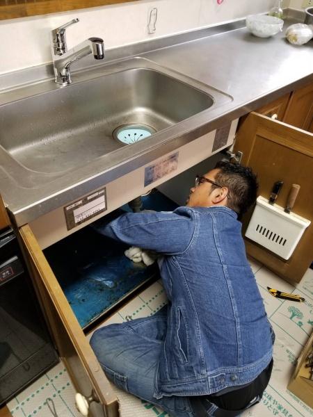 和泉市Y様 キッチン水栓取替工事