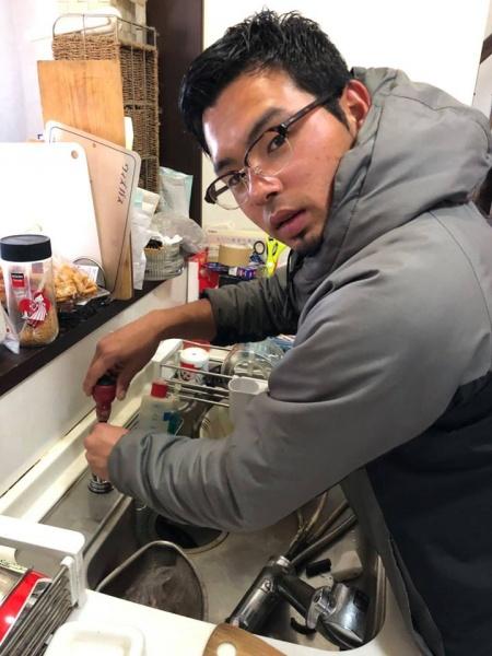 和泉市M様 キッチン水栓取替工事