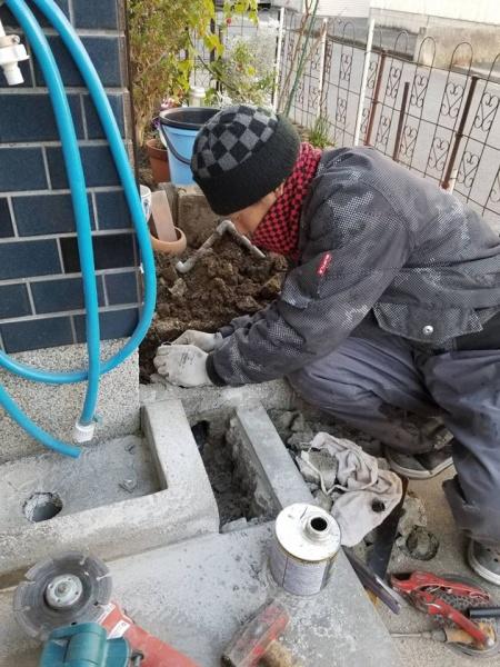和泉市S様 給水管漏水修理