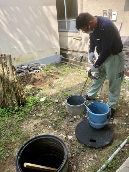 排水管高圧洗浄のご依頼