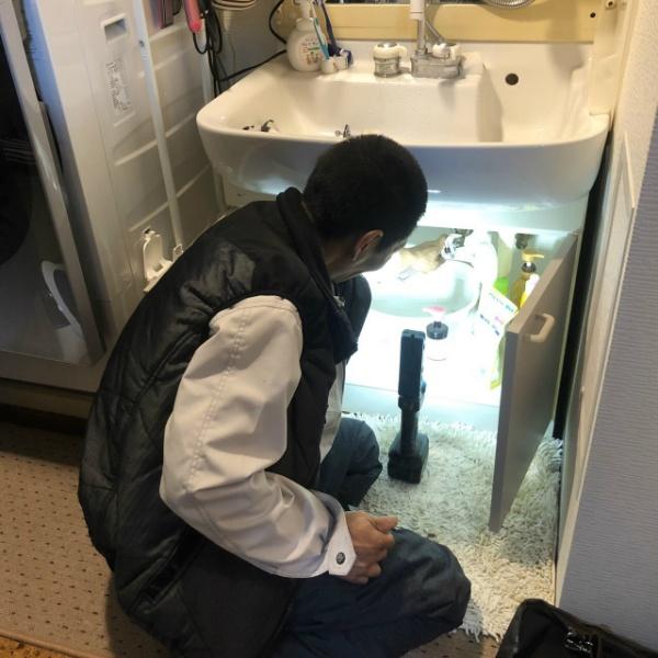 洗面水栓取替工事のご依頼
