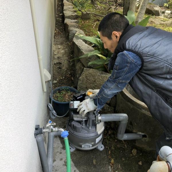 井戸ポンプ取替工事のご依頼