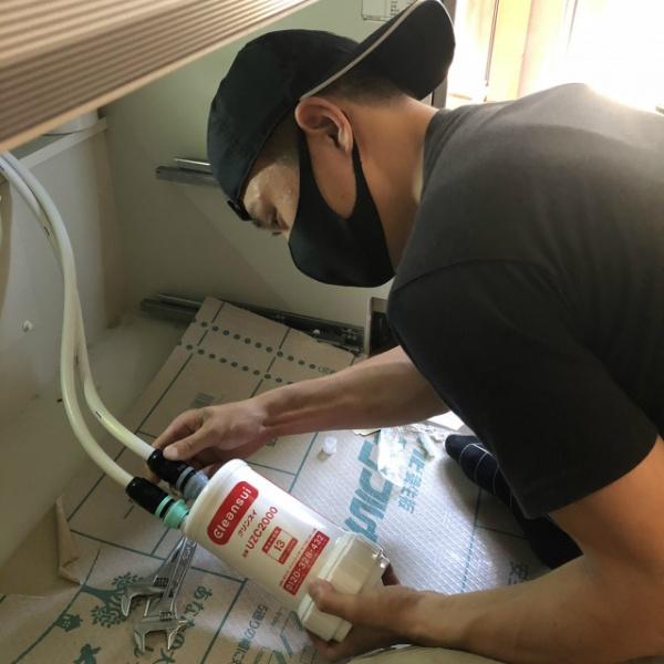 浄水器水栓設置工事ご依頼