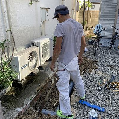 外部排水管修理のご依頼